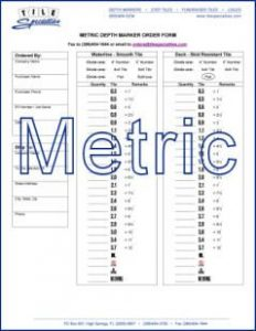 Depth Marker Metric Order Form